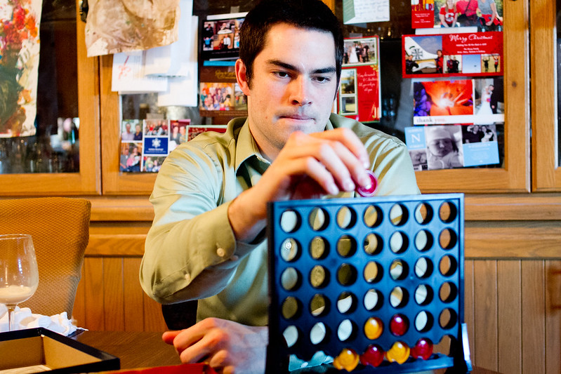Luke playing Connect 4