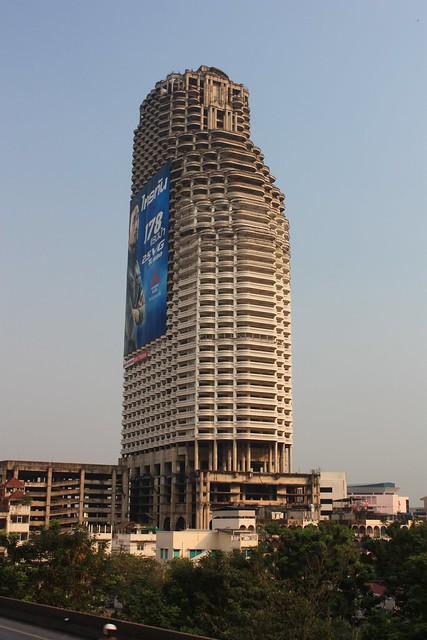 Unfinished / abandoned Sathorn Unique Tower  Flickr - Photo Sharing!