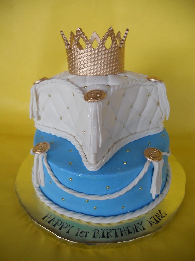 Little King 1st Birthday Cake