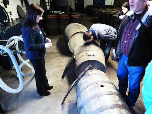 Nosing at Tullibardine Distillery, Scotland