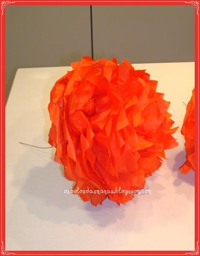 Flor papel Decoração Festa by Osbolosdasmanas