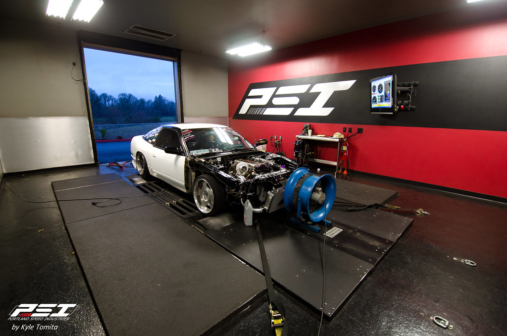 2JZ VVT-i Nissan 240SX on the dyno at PSI