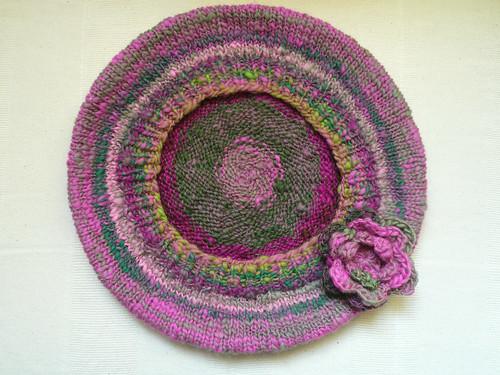 Pink beret underside