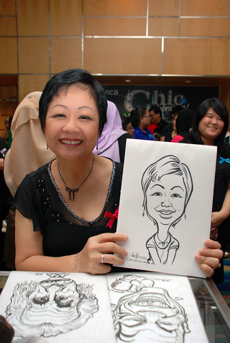 caricature live sketching for Civica Dinner & Dance 2012 - 6