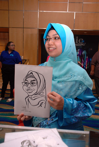 caricature live sketching for Civica Dinner & Dance 2012 - 24
