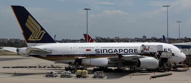 Singapore Airlines Airbus A380-841 (A388) 9V-SKI at Sydney Airport