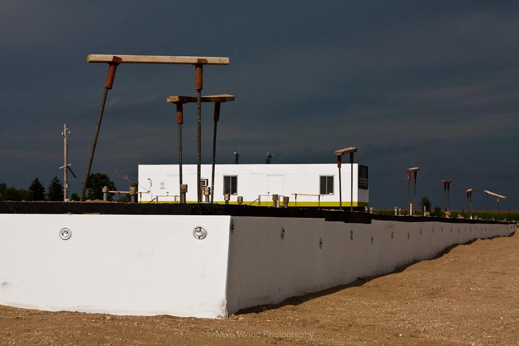 Foam wall, trailer and dark sky