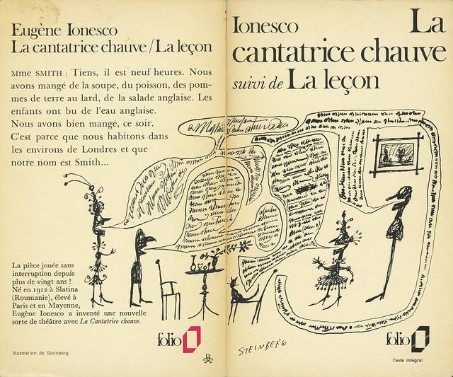 Collection Folio 236 - Eugène Ionesco - La cantatrice chauve (with back)