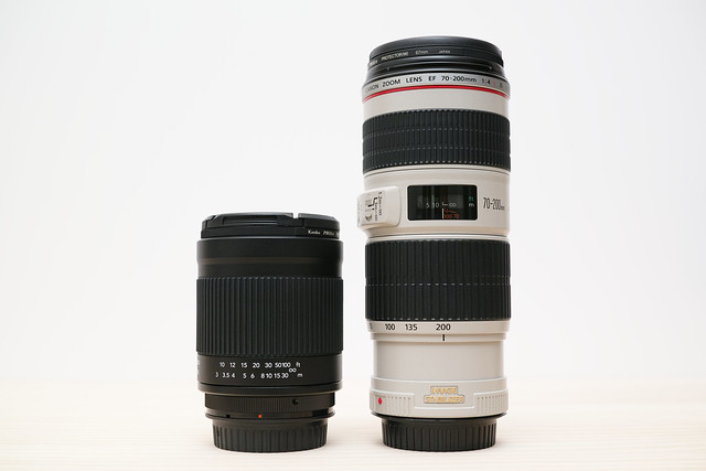 20130104_02_Kenko Mirror Lens 400mm F8 vs CANON EF70-200mm F4L IS USM