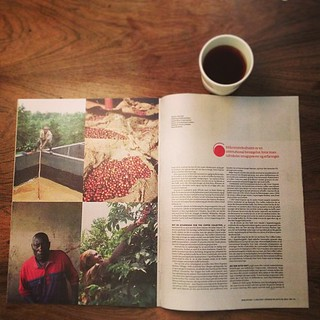 Awesome big article in Berlingske MS today on coffee. Follow Peter Dupont and Henrik Yde (Michelin star chef of Kiin Kiin) on their trip to Kenya. Probably the best piece on coffee in a Danish newspaper ever.