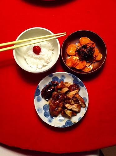 Simple asian dinner
