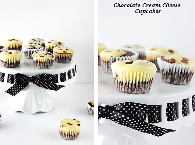 choc cream cheese cupcake collage