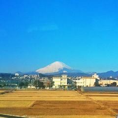 Fujisan from Shinkansen at Odawara