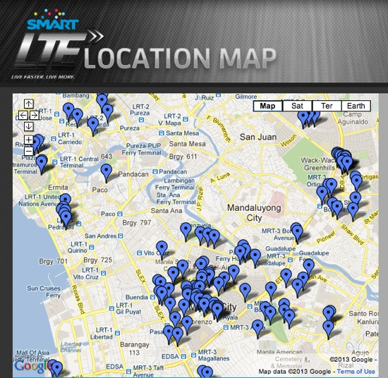 Smart LTE Location Map