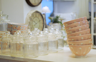Pretty pink bowls @Balders Hage