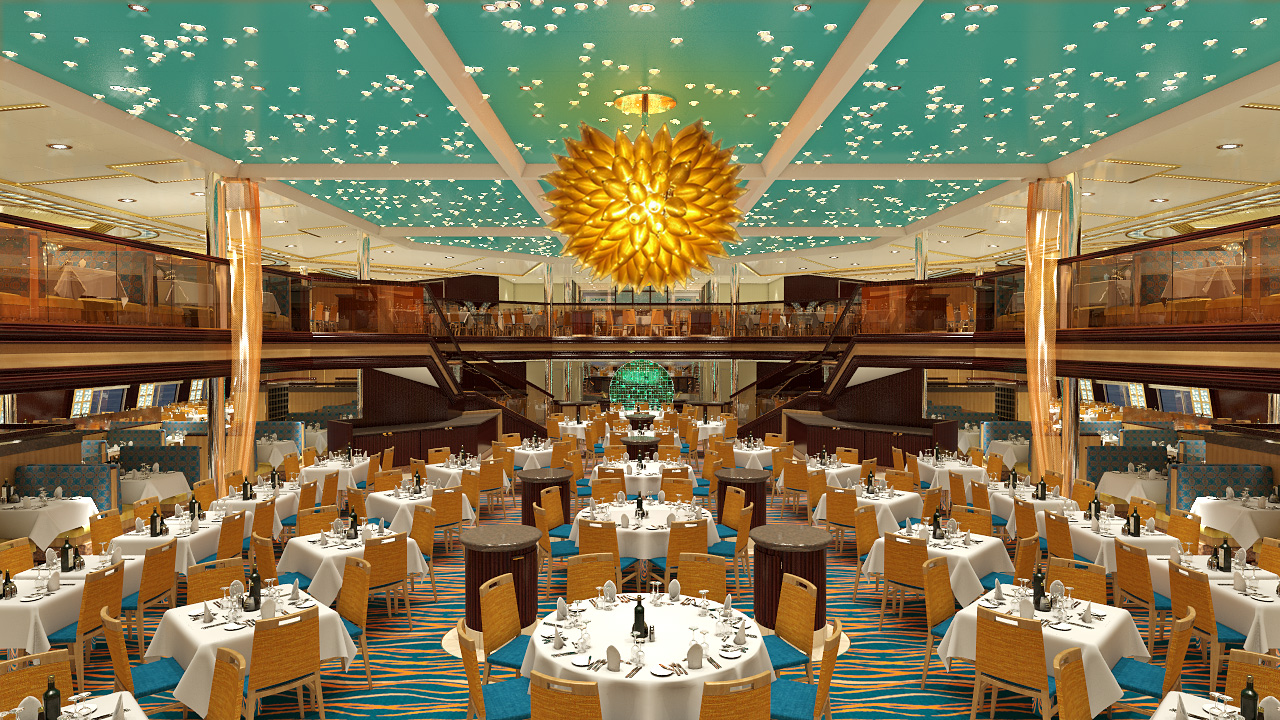 Carnival Sunshine Sunrise Dining Room Rendering
