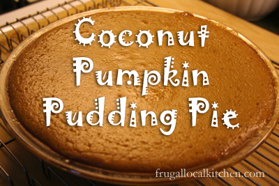 gluten-free Coconut Pumpkin Pudding Pie, perfect for Thanksgiving Dinner