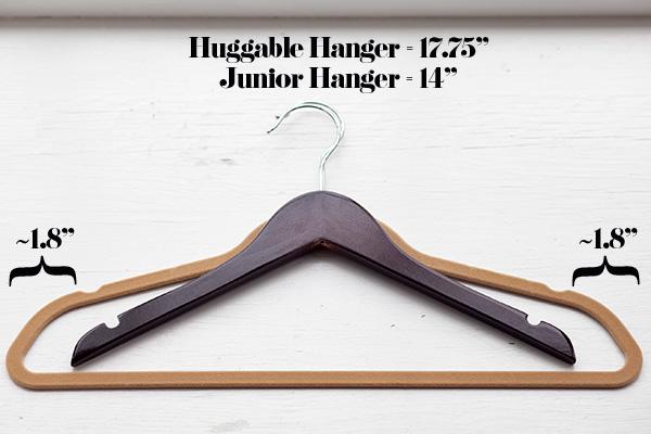 petite hangers versus regular hangers