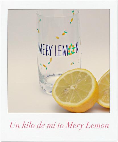 Vaso Mery Lemon con letras