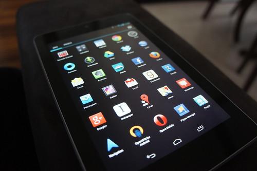 Nexus 7 App Icon Grid