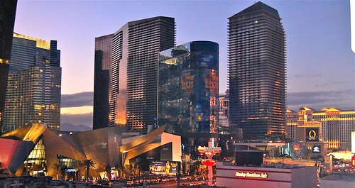 sunset lasvegas newyears citycenter aria