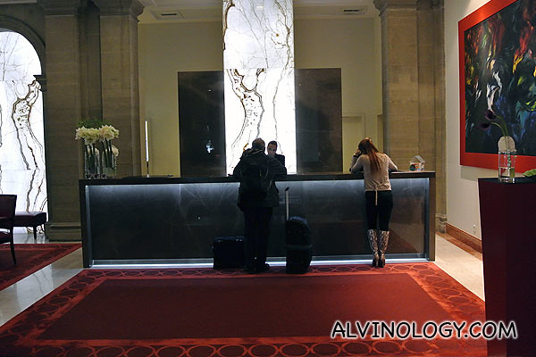 Hotel reception at Swissotel Metropole Geneva