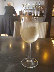 5th, White wine spritzer in The Saracens Head.