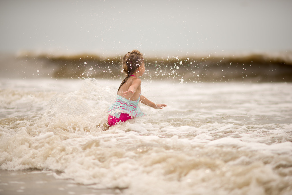 Reese in the Waves