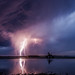 Lightning on Saint-Malo by A.S photographie