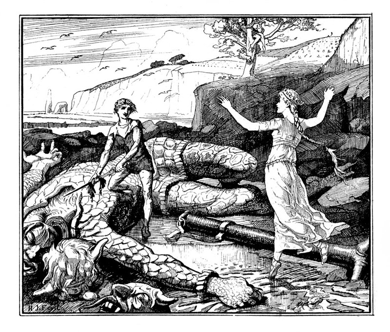 Henry Justice Ford - The red fairy book, edited by Andrew Lang, 1890 (illustration 4)