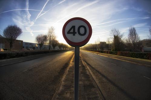 road sky sign wales sunrise treforest 40 signpost valleys