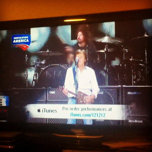 Paul MacCartney & Dave Grohl. Anthony's all-time favs. #121212concert