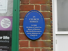 Photo of John Cox blue plaque