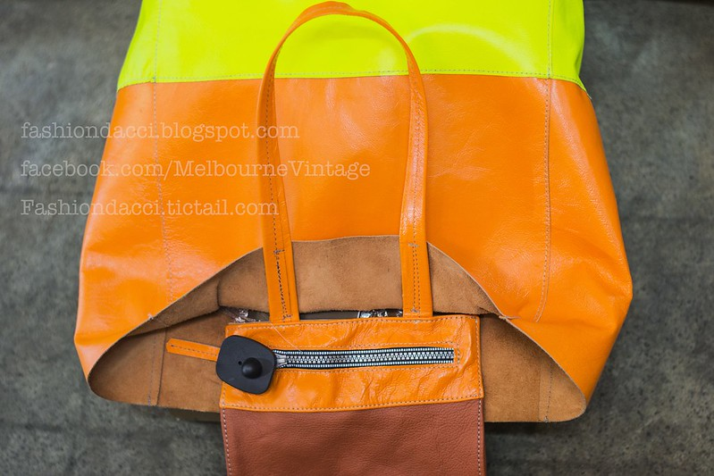 orange shopping tote