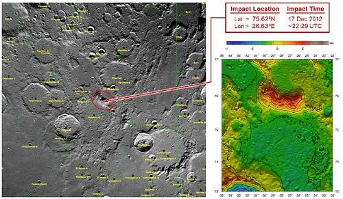 NASA GRAIL zona di impatto