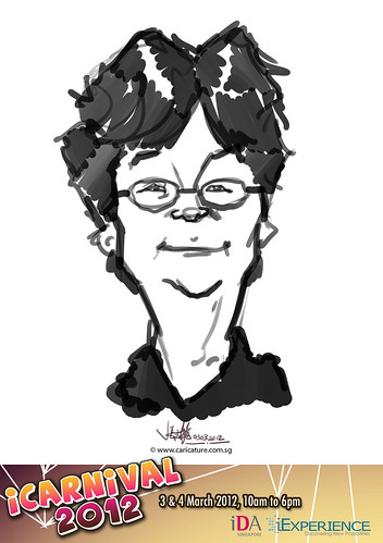 digital live caricature for iCarnival 2012  (IDA) - Day 1 - 60