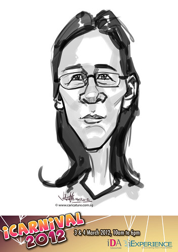 digital live caricature for iCarnival 2012  (IDA) - Day 2 - 72