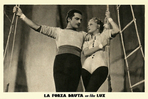 Germana Paolieri and Rossano Brazzi in La forza bruta