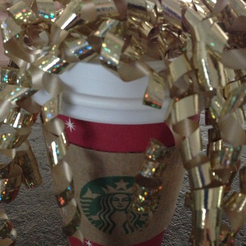 When we deliver Starbucks on Christmas Eve eve, it gets very sparkly! Enjoy your beverages darlings.