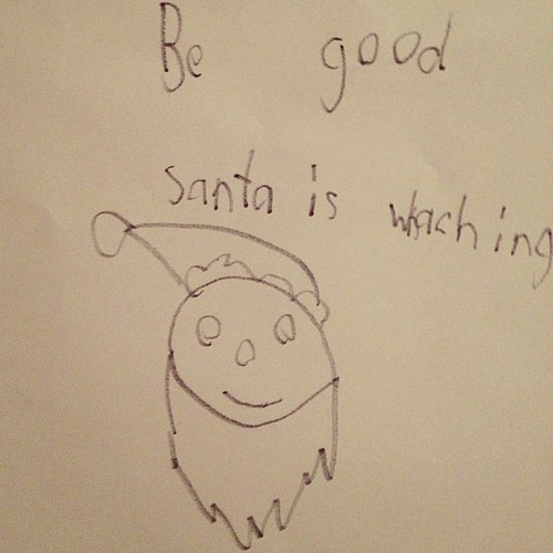 "Ethan made this sign to remind himself to be good. Both boys have been placed on the ""watch list""."