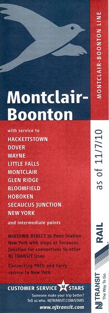 NJT Montclair-Boonton 11-2010 Cover