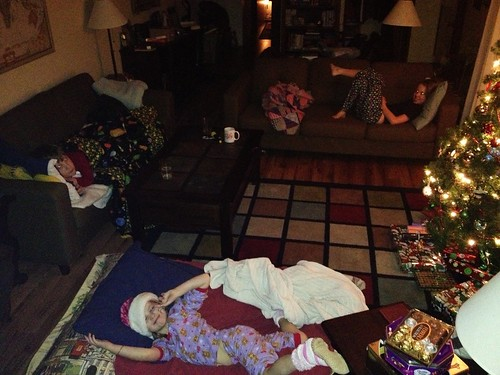 The kids are sleeping in the living room tonight!