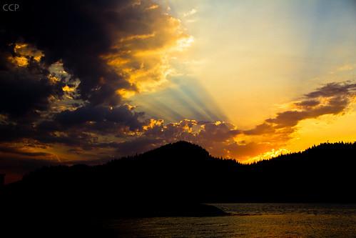 sunset sky cloud sun