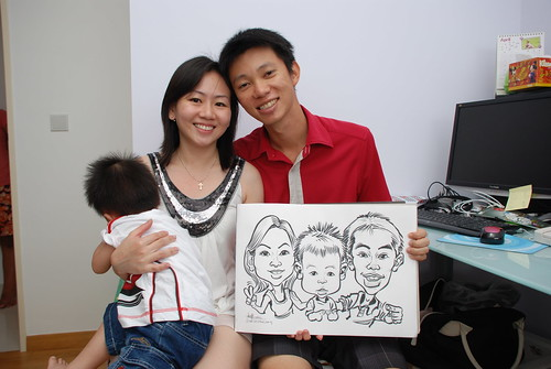 caricature live sketching for birthday party 10032012 - 1