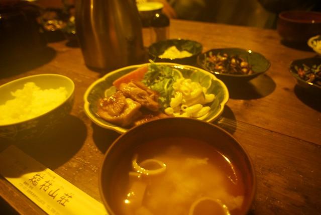 縞枯山荘の夕食
