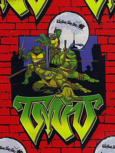 "xx :: ""Teenage Mutant Ninja Turtles"" - Holiday Gift Wrap iii [[ ..art isolated ]]  (( 2004 ))"
