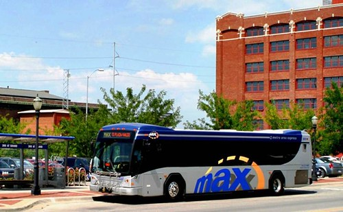 the MAX bus line makes four stops in the GIZ (courtesy of Kansas City Area Transit Association)