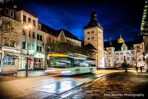 Busses in the night by Dirk Mueller Photography