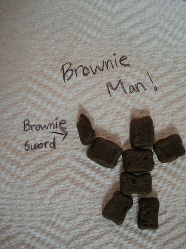 Special K Fudge Brownie Bites Brownie Man