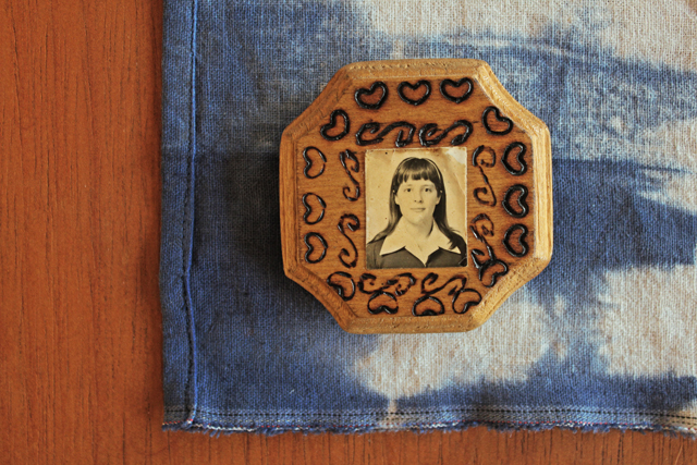Wood burned frame